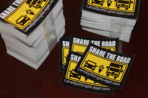 Share The Road Stickers - LaneSplittingIsLegal.com