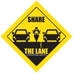Share The Lane - Lane Splitting Road Sign Sticker