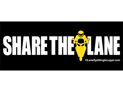 "Share The Lane sticker - 5"" x 2"" - lane sharing sticker"